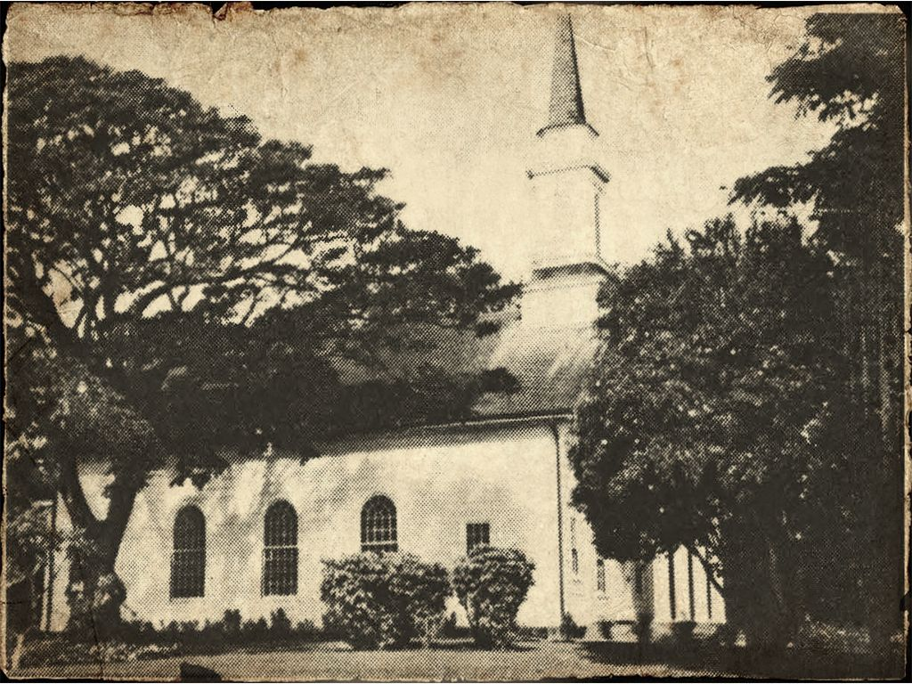 Vintage Photo Of Koloa Church - Koloa Kauai Hawaii