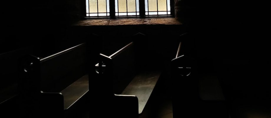 Photo of church pews by Jessica Kille